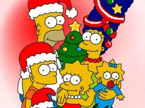 familia Simpson navidad