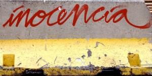 letrero inocencia